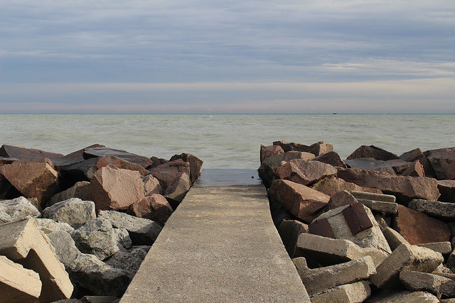 Racine waterfront along Lake Michigan