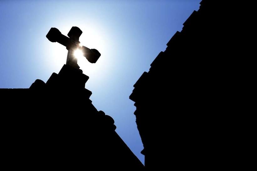 Cross on church