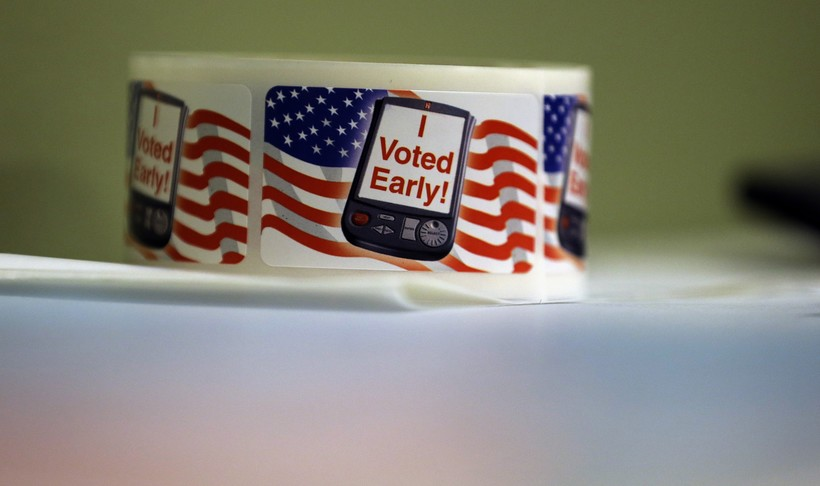 Early voting stickers