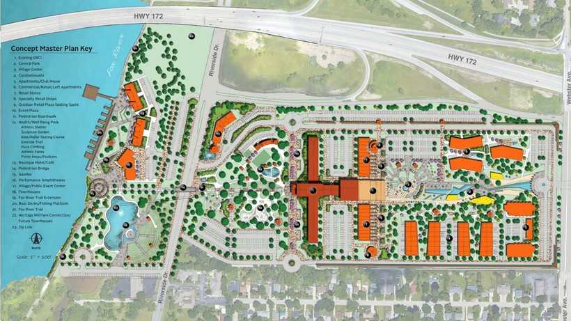 Site redevelopment concept proposal for the Green Bay Correctional Institute