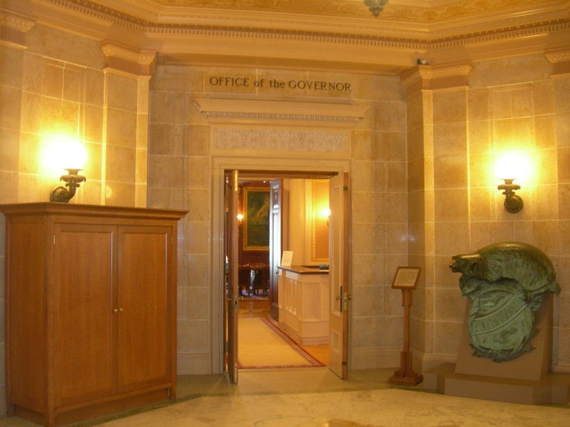 Entrance to the governor's office