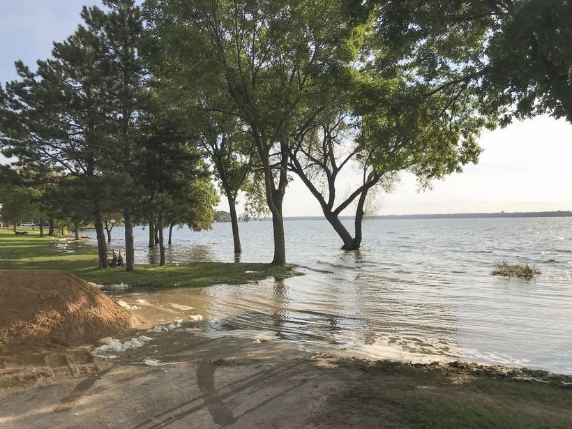 lake, flooding, floods, Madison, 2018