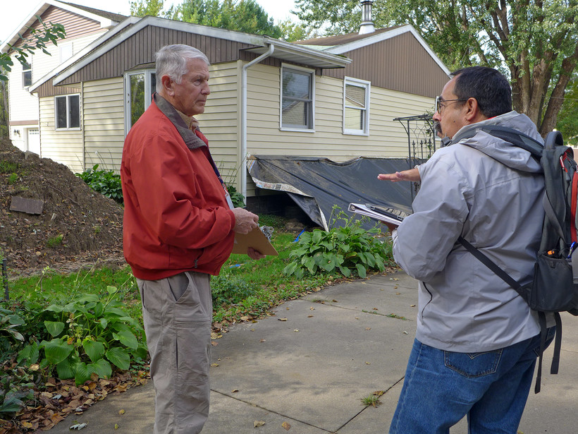 flood damage surveyed in La Crosse