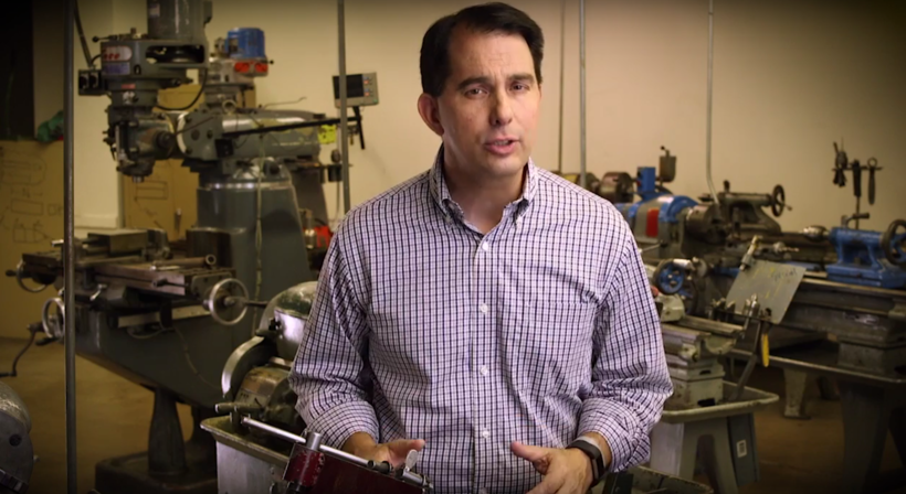 Scott Walker in his youth apprenticeship tv campaign ad