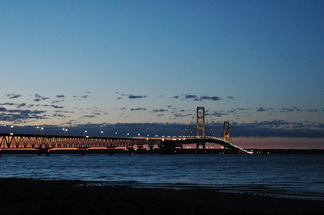 Mackinac Bridge in the Straits of Mackinac