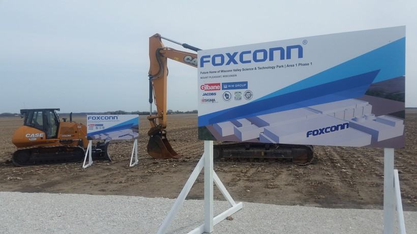 Equipment at the Foxconn construction site