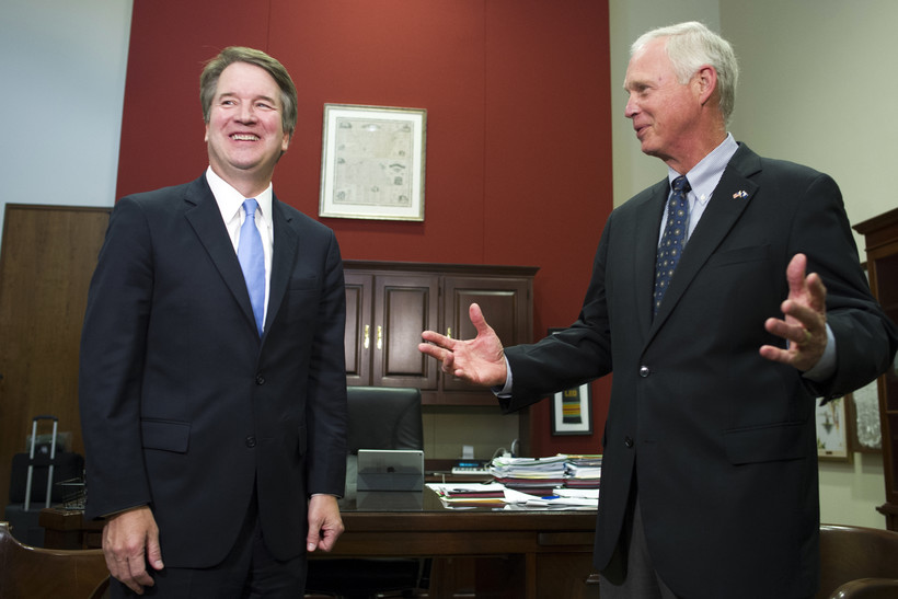 Supreme Court nominee Brett Kavanaugh meets with Sen. Ron Johnson