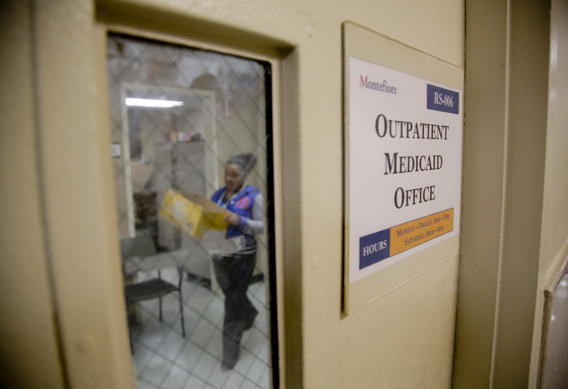 A Medicaid office employee