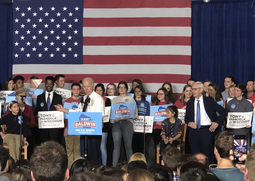 Former Vice President Joe Biden campaigned for Wisconsin Democrats