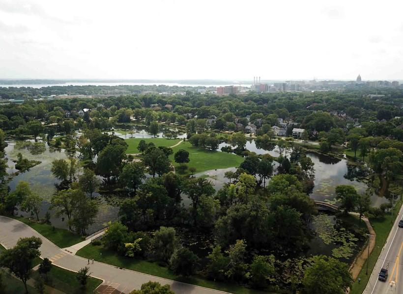 Tenney Park, Madison, Dane County, flooding, summer, 2018