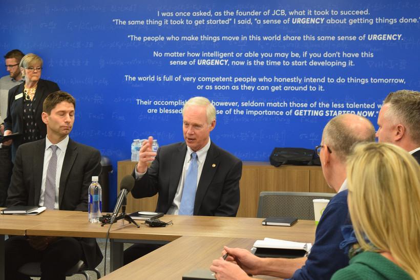 U.S. Sen. Ron Johnsonmet with business leaders