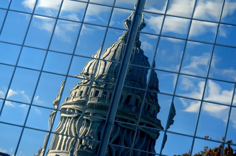 Wisconsin State Capitol Reflection