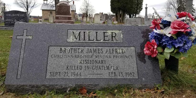 Gravestone of Brother James Miller