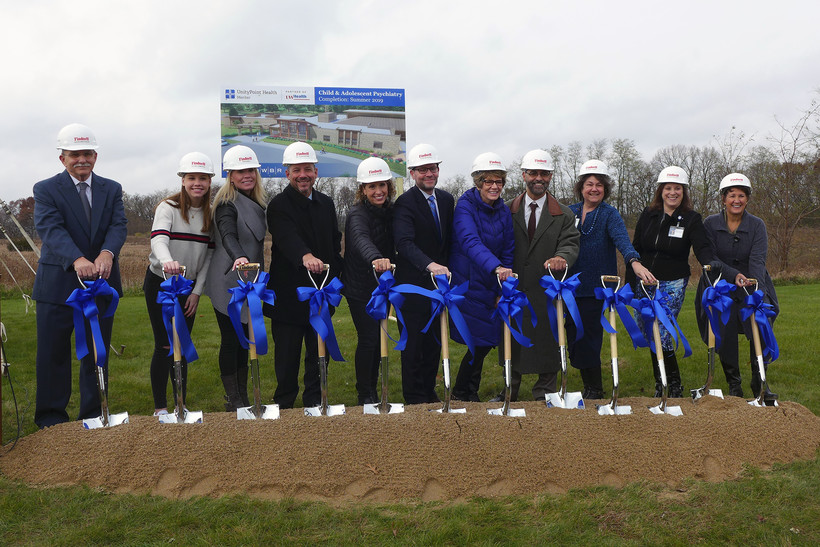 groundbreaking ceremony for a new child psychiatric hospital
