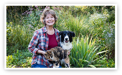 Patricia McConnell and dog