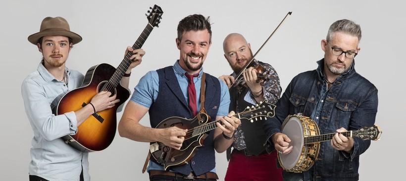 Fergal Scahill David Howley Martin Howley and Enda Scahil of We Banjo 3