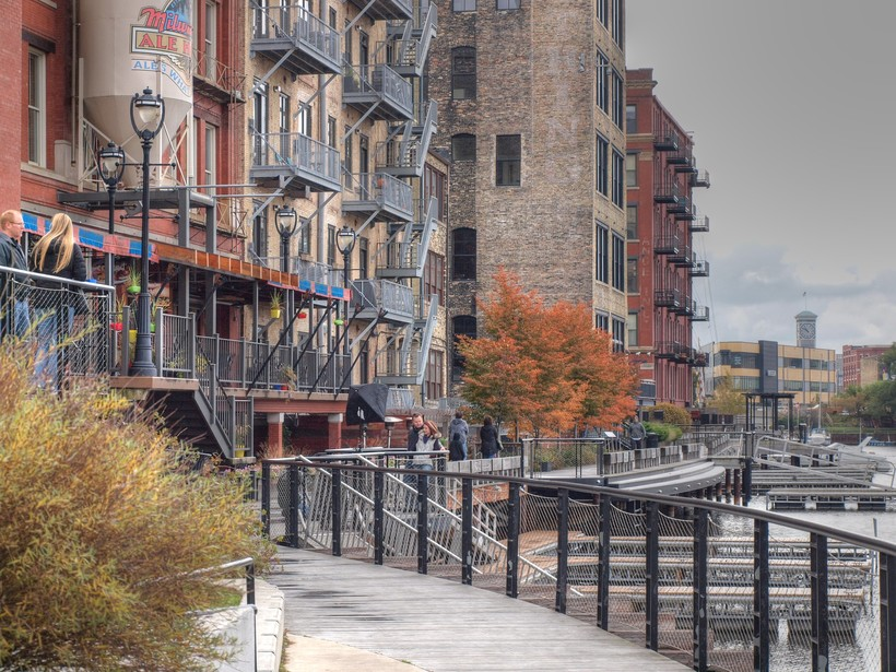 Historic Third Ward River Walk in Milwaukee