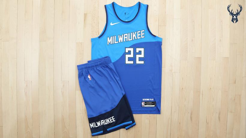 Bucks Unveil New Jerseys Inspired By Milwaukee Rivers, Lake ...