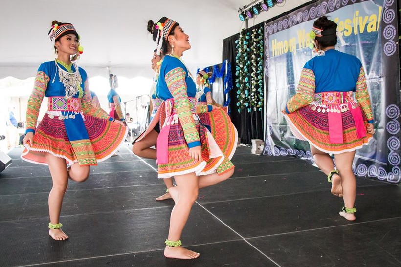 Dancers at Hmong Wausau Festival