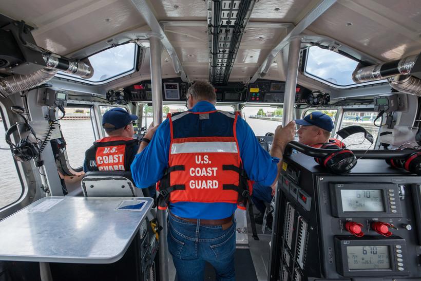 U.S. Coast Guard members