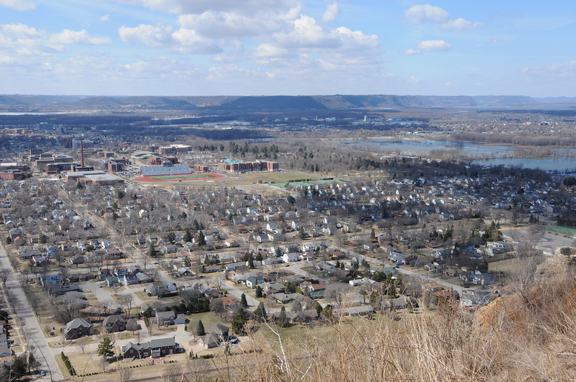 La Crosse, Wis. from Grandad Bluff Park
