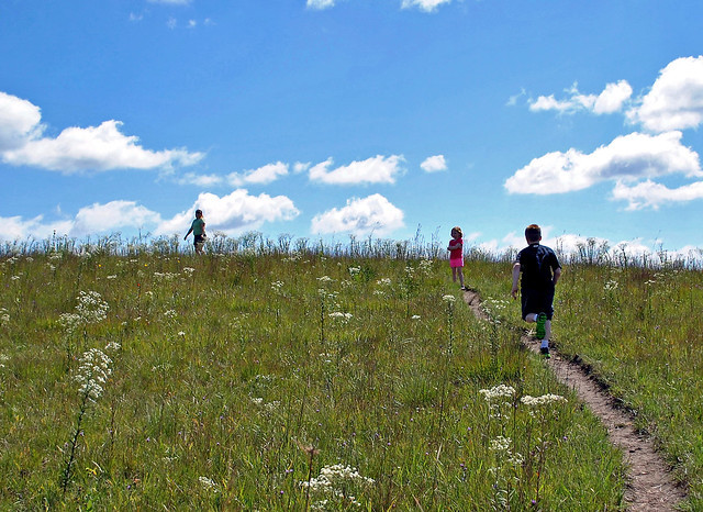Hiking at Black Earth Rettenmund PrairieState Natural Area