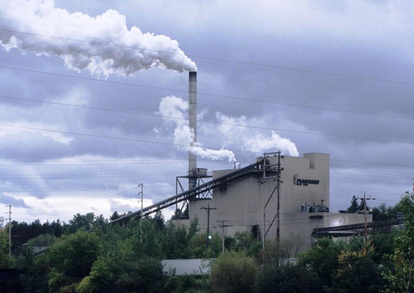 Stack emissions at Flambeau Paper Company