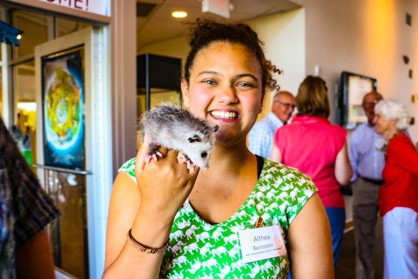 Althea Bernsteinposes at the Aldo Leopold Nature Center