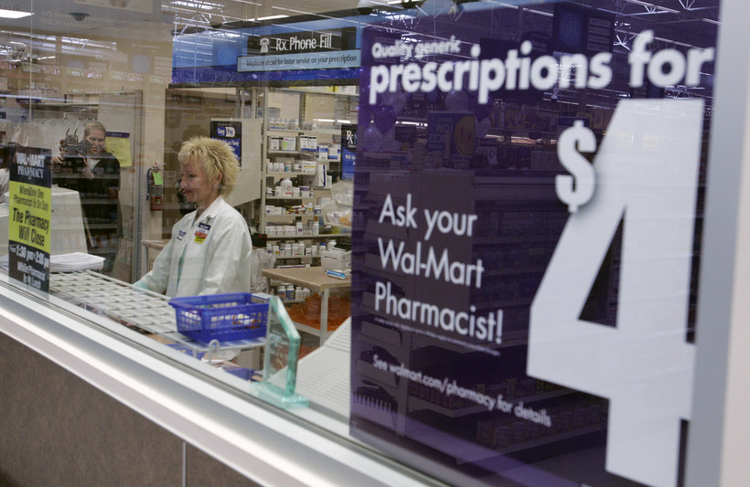 Pharmacist Karen Kalies works at a Wal-Mart pharmacy