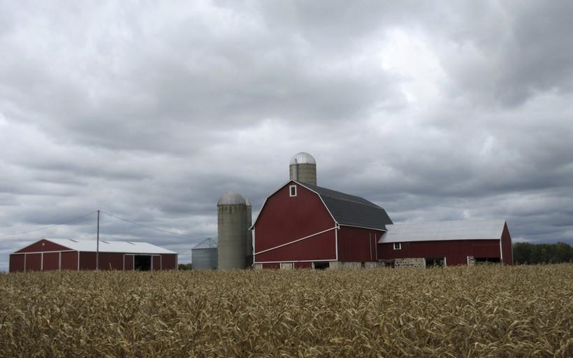 farmland in Wisconsin's Kettle Moraine region