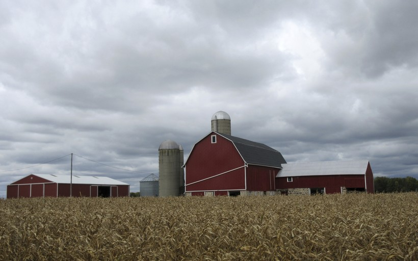 farmland in Wisconsin's Kettle Moraine region