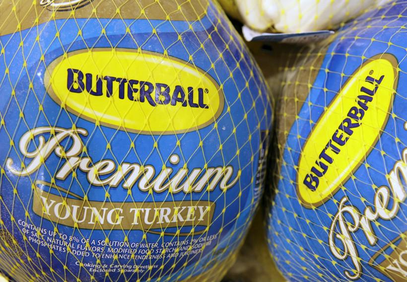 frozen turkey, butterball