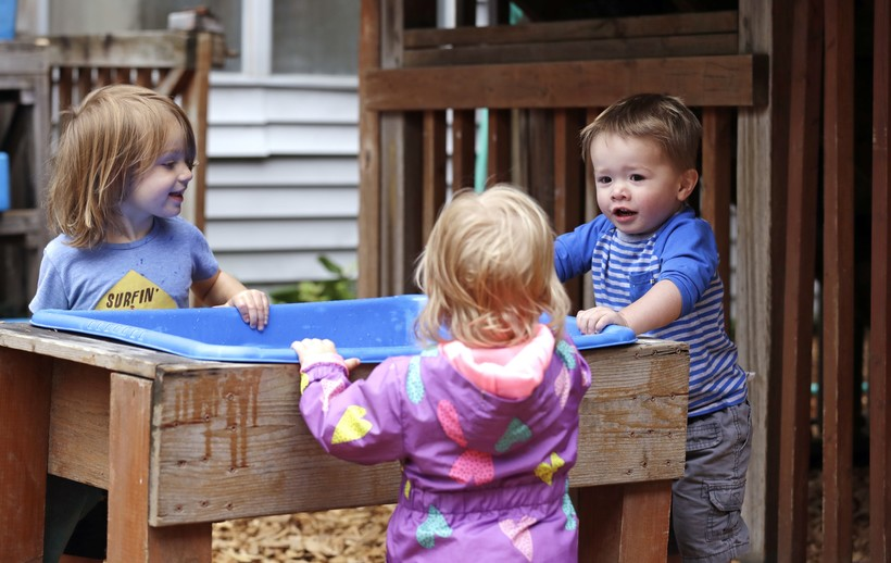 toddlers play at toddler at the Wallingford Child Care Center