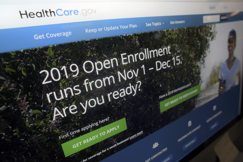 HealthCare.gov website on a computer screen