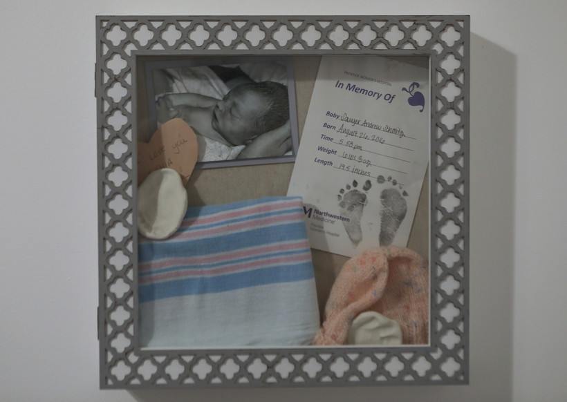 a memory box dedicated to stillborn Sawyer Schmitz