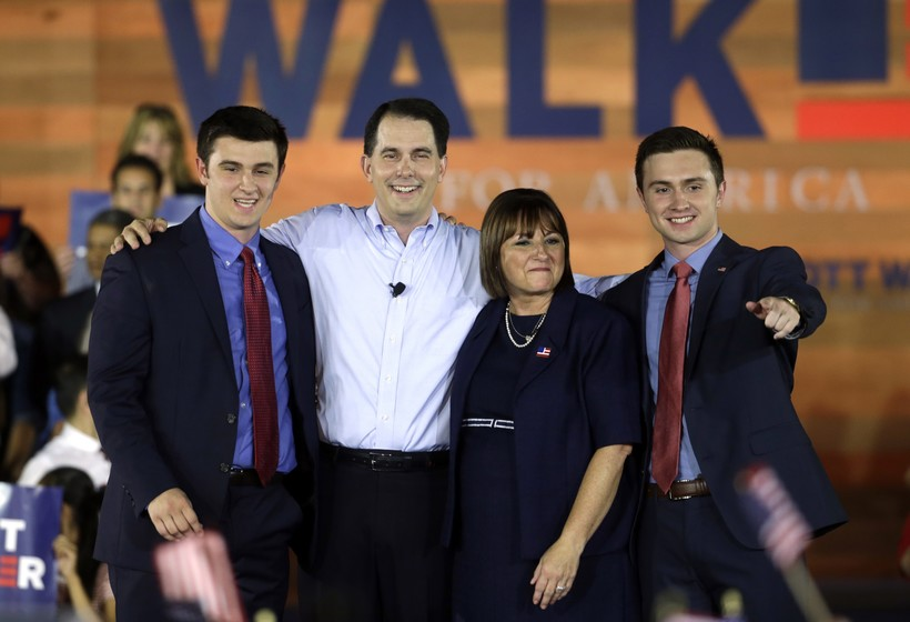 Scott Walker and family