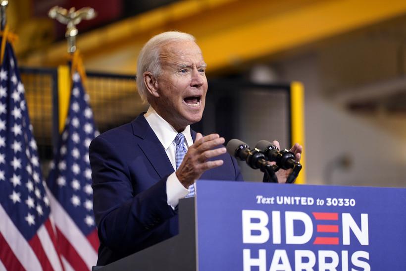 Joe Biden speaks at a campaign event