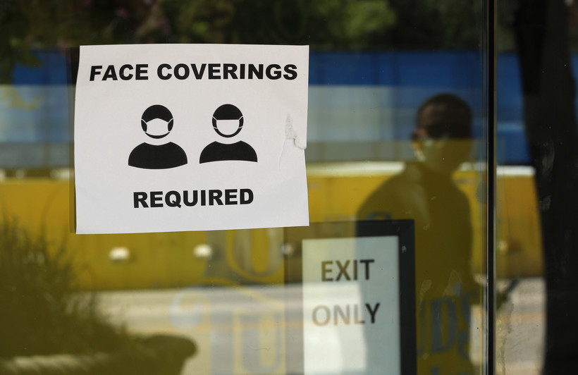 sign requiring face coverings