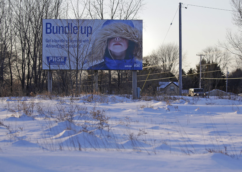 Cold weather billboard