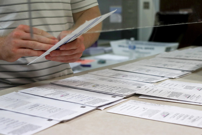 mail-in ballots being counted