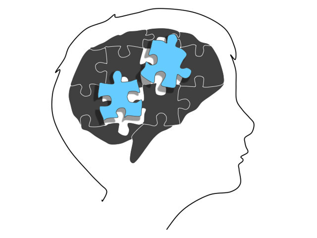 illustration of child's brain with puzzle pieces