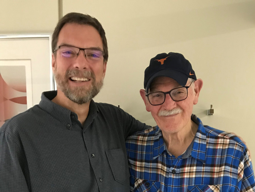 """Simply Folk"" host Dan Robinson and country music historian Bill Malone"