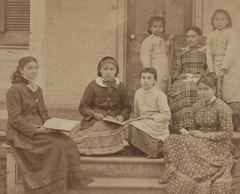 Students at the Carlisle Indian Industrial School