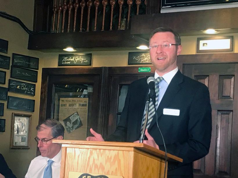 Brian Hagedorn speaking at podium