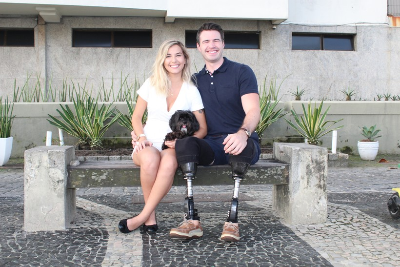 Jason Church with fiancee Bella Barbosa