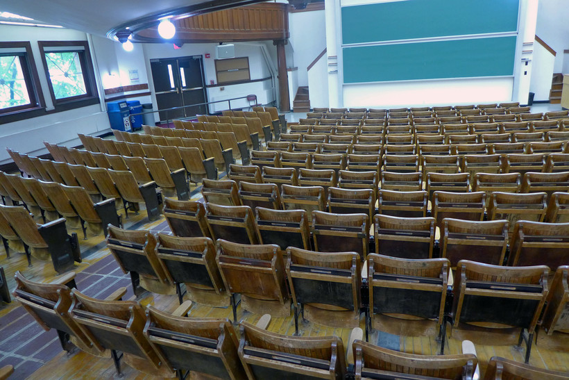 Classroom in Agriculture Hall on UW-Madison's campus