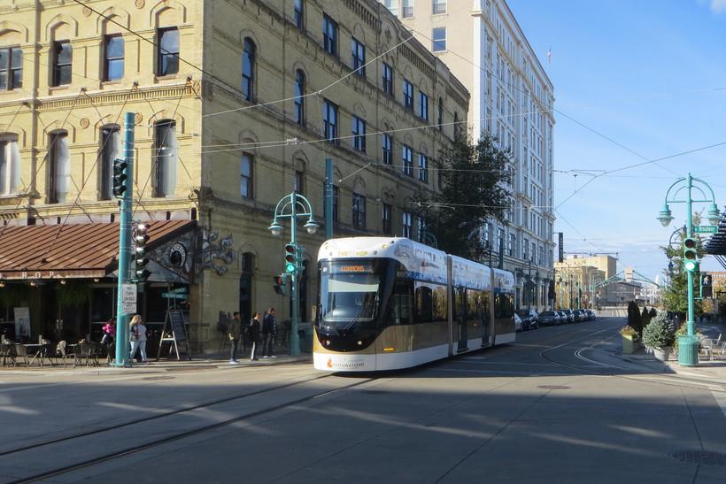 The Hop streetcar in Milwaukee