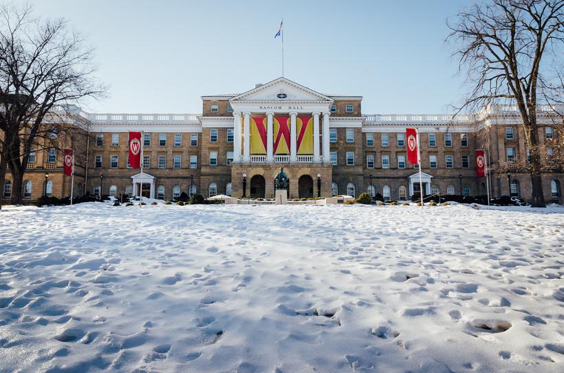 Bascom Hall with snow