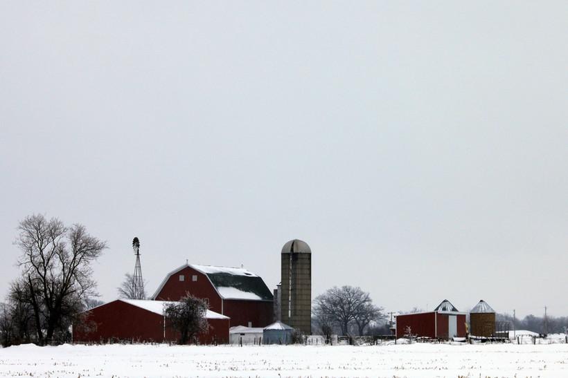 Wisconsin farm in winter