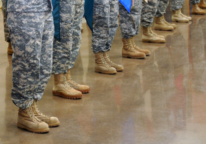 Wisconsin National Guard members standing